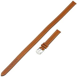 Michele MS12BX270216 12mm Leather Calfskin Brown Double-Wrap Watch Strap