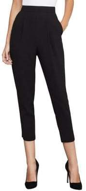 BCBGMAXAZRIA Pleated High-Rise Cropped Pants