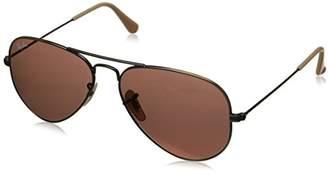 Ray-Ban Men's Large Metal Aviator Sunglasses