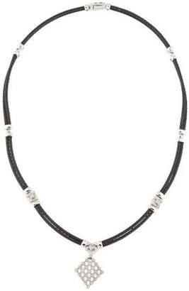 Charriol Diamond Celtic Noir Pendant Necklace