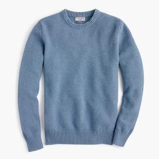 J.Crew Wallace & Barnes basketweave sweater in recycled Italian denim