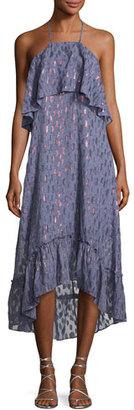 Ella Moss Stargazer Tiered Chiffon Maxi Dress, Blue $278 thestylecure.com