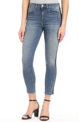 Mavi Jeans Tess Black Velvet Stripe Skinny Jeans