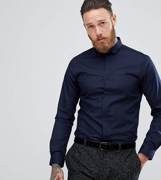 Heart & Dagger Skinny Shirt With Cutaway Collar