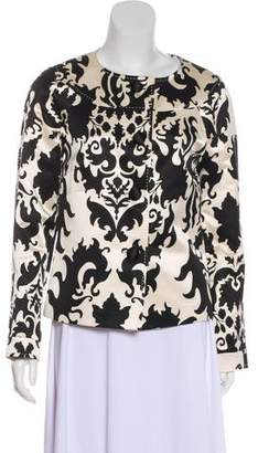 Tory Burch Printed Button-Up Blazer