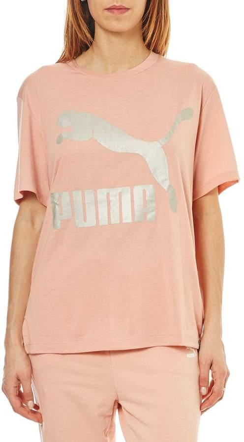Kurzärmeliges T-Shirt - rosa