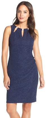 Eliza J Embellished Knit Sheath Dress