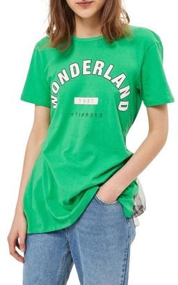 Women's Topshop Wonderland Tulle Back T-Shirt $40 thestylecure.com