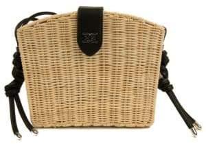 Sam Edelman Layla Straw Basket Shoulder Bag