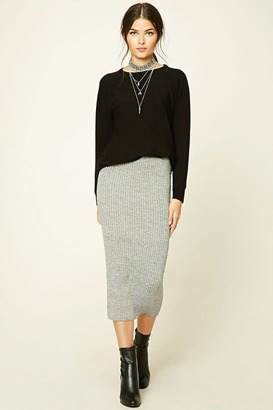 FOREVER 21+ Contemporary Sweater Midi Skirt $17.90 thestylecure.com