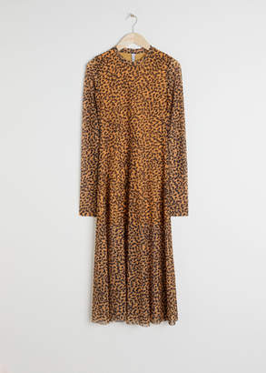 And other stories Sheer Leopard Midi Dress