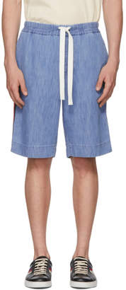 Gucci Blue Chambray Shorts