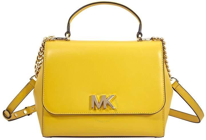 Michael Kors Mott Medium Leather Satchel- Sunflower - ONE COLOR - STYLE