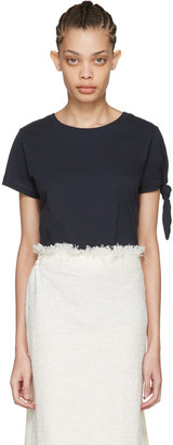 J.W. Anderson Navy Single Knot T-Shirt $185 thestylecure.com
