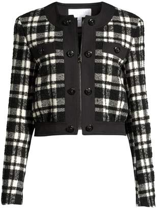 Escada Sport Barkli Wool-Blend Plaid Crop Jacket