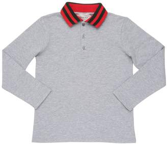 Gucci Web Cotton Piqué Polo Shirt