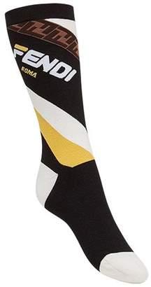 Fendi FendiMania motif high socks