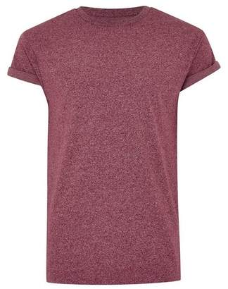 Topman Mens Red Burgundy Fleck Muscle T-Shirt