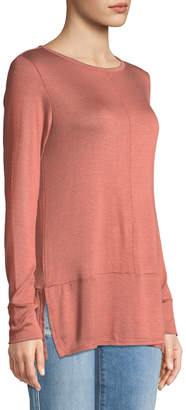 Bobeau Jayme Long-Sleeve Knit Tee