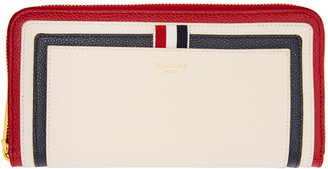 Thom Browne Tricolor Long Zip Around Wallet $940 thestylecure.com