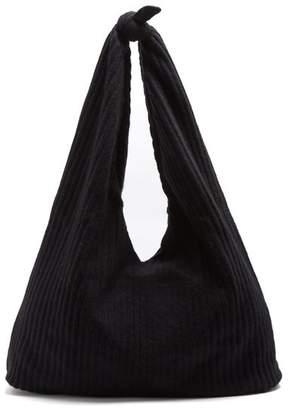 The Row Bindle Ribbed Knit Shoulder Bag - Womens - Black