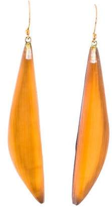 Alexis Bittar Lucite Angled Drop Earrings