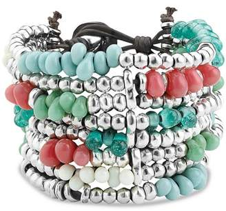 Uno de 50 Beaded Cuff Bracelet