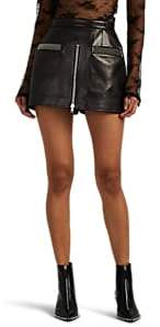 Alexander Wang Women's Zip-Detailed Leather Skort - Black