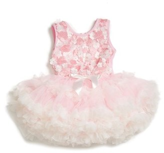 Infant Girl's Popatu Floral Applique Pettidress $39 thestylecure.com