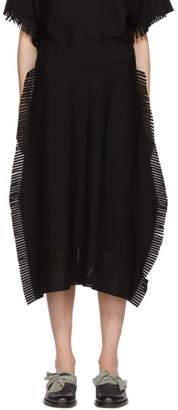 Issey Miyake Black Fringed Skirt