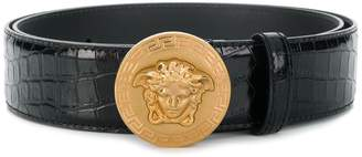 Versace embossed Medusa buckle belt