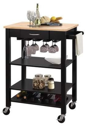 ACME Furniture ACME Odin Kitchen Cart, Natural & Black