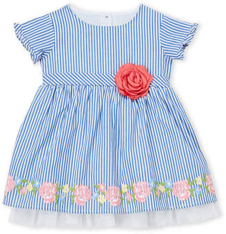 Little Angels (Infant Girls) Striped Flower Dress