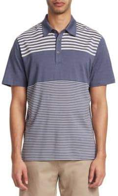 Saks Fifth Avenue COLLECTION Pieced Stripe Polo