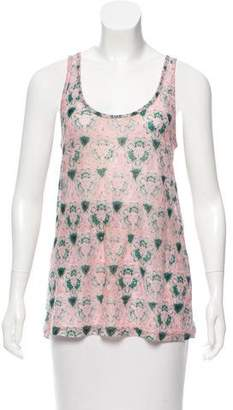 Prabal Gurung Abstract Print Sleeveless Top