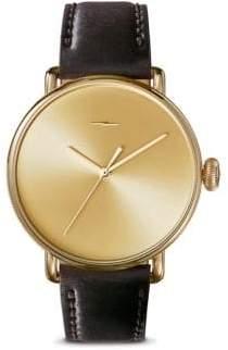 Shinola Canfield Bolt Cordovan Leather Strap Watch