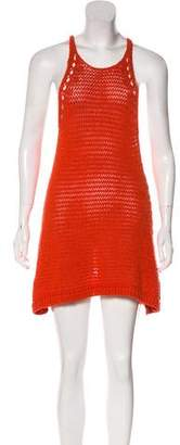 Halston Knit Mini Dress
