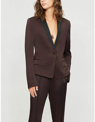 Haider Ackermann Shawl-lapel fitted satin blazer