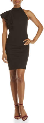 Necessary Objects Ruffled One-Shoulder Bodycon Dress