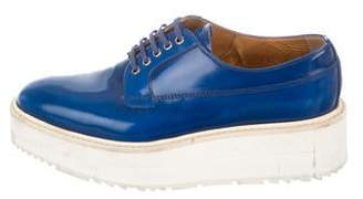 Prada Leather Platform Oxfords