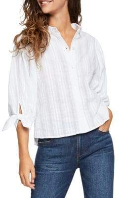 BCBGeneration Variegated Stripe Button-Down Shirt