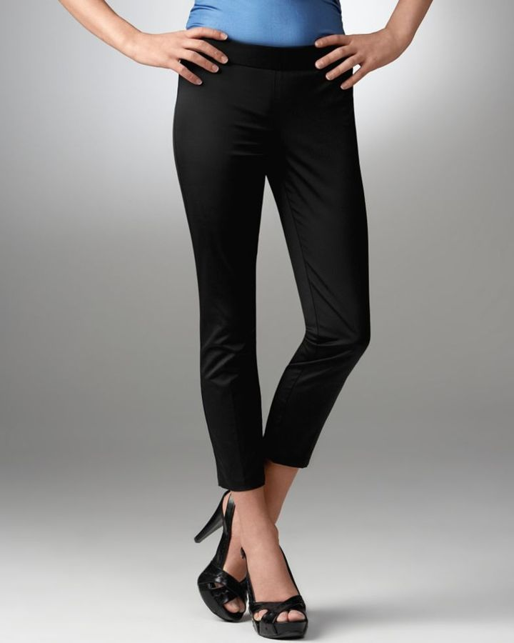 BCBGeneration Ankle-Zip Skinny Cropped Pants