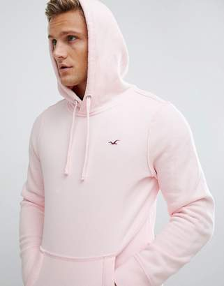 Hollister Icon Logo Hoodie in pink