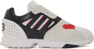 Y-3 Y 3 White and Black ZX Run Sneakers