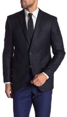 John Varvatos Bedford Black Blue Two Button Notch Lapel Suit Separates Jacket