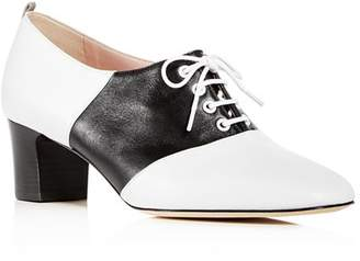 Sarah Jessica Parker Women's Olivia Leather Block-Heel Oxfords