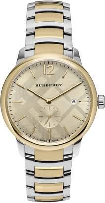 Burberry Men's The Classic Swiss Quartz Two-Tone Bracelet Watch, 40mm