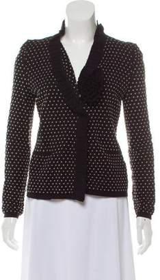 Armani Collezioni Patterned Knit Cardigan