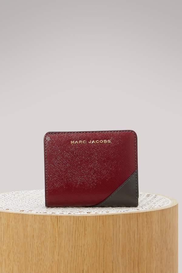 Marc Jacobs Saffiano metal letters Mini Compact wallet