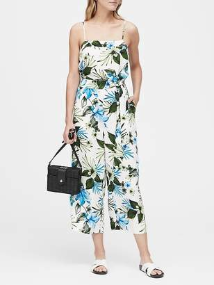 Banana Republic Tropical Print Cropped Jumpsuit